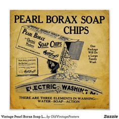 Shop Vintage Pearl Borax Soap Laundry Detergent Print created by OldVintagePosters. Vintage Ads, Vintage Prints, Aries, Borax Laundry, Soap Advertisement, Modern Laundry Rooms, Washing Detergent, Soap Packaging, Soap Labels