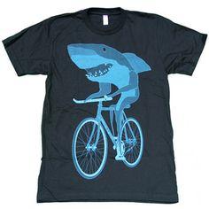 Shark On A Bike Tee