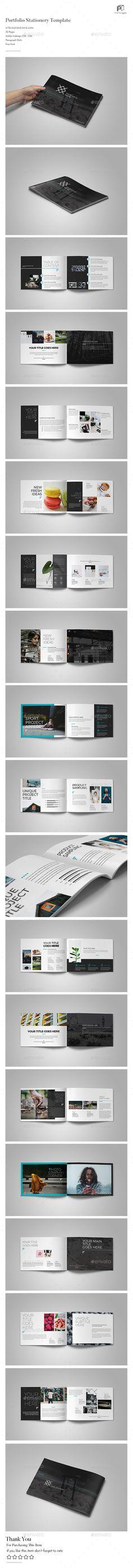 Modern Brochure — InDesign INDD #elegant #horizontal • Download ➝ https://graphicriver.net/item/modern-brochure/20476797?ref=pxcr