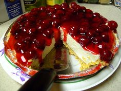 cherry cheesecake easy recipe