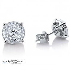 White Gold each Outlook Diamond Stud earrings. Diamonds are F color clarity. We are please to present our new line of diamond stud. Diamond Studs, Diamond Shapes, Black Diamond, Sterling Silver Cufflinks, Sterling Silver Jewelry, White Gold Diamonds, Colored Diamonds, Ideal Cut Diamond, Quality Diamonds