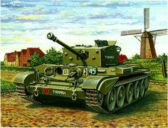 Cromwell Mk.VIII de la 1ª División Acorazada polaca, Holanda 1944. Más en www.elgrancapitan.org/foro/