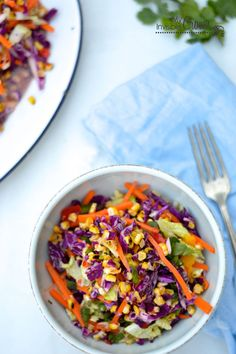 Grilled Corn Coleslaw with Tangy Lime Dressing | 28 Clean Eating Recipes To Grill This Summer