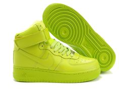 Nike Air Force One neon green