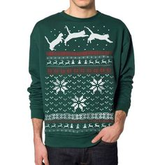 Ugly sweater...kittens prancing...love it
