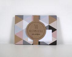 10 Briefumschläge Dreiecke von ava&yves auf DaWanda.com