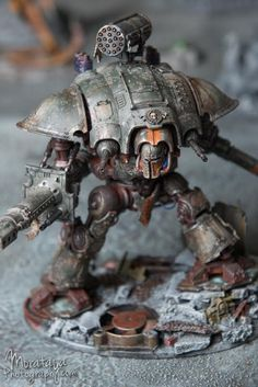 Heat Discolouring Effect, Heilig Grimm, Imperial Knight, Imperial Knight 40k, Weathered, Weathered Effect