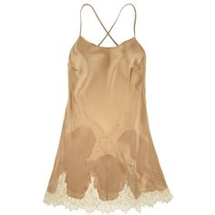 La Fee Verte Silk And Lace Chemise ($220) ❤ liked on Polyvore featuring intimates, chemises, underwear, dresses, lingerie, sheer lace lingerie, transparent lingerie, lingerie chemise, silk slips and lace chemise