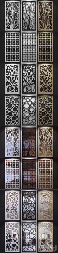 3d модели: Другие предметы интерьера - Набор декоративных панелей