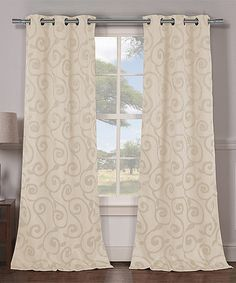 This Champagne Lewis Blackout Curtain Panel - Set of Two is perfect! #zulilyfinds