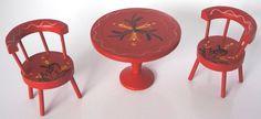Czech Miniature Wooden Furniture: Schowanek, Tofa, Detoa - Dolls' Houses Past & Present