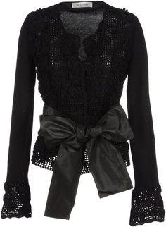 Valentino Cardigan in Black (noir) - Lyst