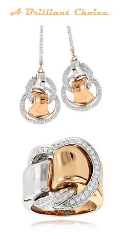 complete your look with Designer Cocktail Rings & 18K Gold Designer Diamond Drop Earrings 