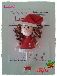"""Imán """"Mana Noel"""" Realizado por Luciart www.facebook.com/luciartfofuchas"""