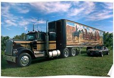 """Vintage Trucks Classic """"Smokey and the Bandit"""" Kenworth Semi Truck Replica Canvas Print - Canvas print. Arrives ready to hang. Additional sizes are available. Kenworth """"Smokey and the Bandit"""" Semi Truck Replica. Big Rig Trucks, Gmc Trucks, Diesel Trucks, Lifted Trucks, Pickup Trucks, Lifted Ford, Jeep Pickup, Ford Classic Cars, Classic Chevy Trucks"""