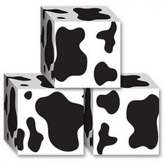 Cardboard Cow Print Party Favour Boxes
