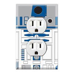 Duplex Wall Outlet Plate Decor Wallplate - Star Wars R2-D2 R2D2