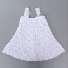 1 años de edad Del Bebé Vestido de La Muchacha Muchacha Del Estilo Del Verano Vestido de Encaje 2015 de Moda Ropa de Los Cabritos de la Muchacha Sin Mangas Vestido vestidos infantis