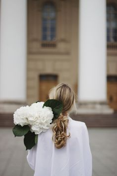 Girl with flowers. Hydrangea. Bloom and inspiration. Photographer in Moscow