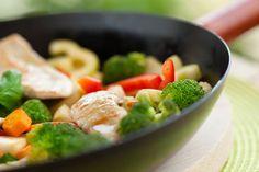 Wok med kylling og grøntsager Veggie Stir Fry, Chicken Stir Fry, How To Cook Chicken, Zone Recipes, Diet Recipes, Healthy Recipes, Lunch Recipes, Chicken Broccoli, Chicken And Vegetables