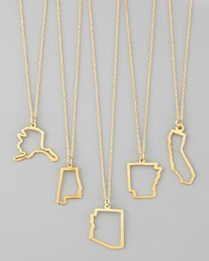 Want a MN one so so much!  Maya Brenner Designs 14k Gold State Necklaces - Neiman Marcus