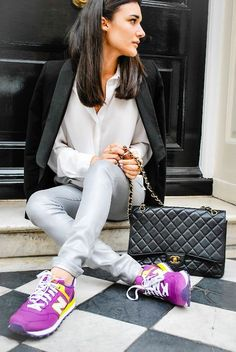 New Balance sneakers and a Chanel purse — the new luxury.
