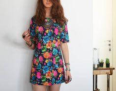 vestido mini floral - vestidos sem marca