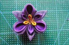 Tutorial: floare de iris handmade din mătase și organza