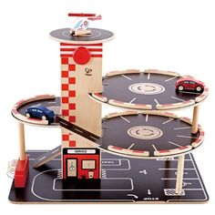 Park and Go Kids Wooden Toy Car Garage Playset by Hape Wooden Toy Garage, Wooden Car, Hape Toys, Wood Toys, Diy Toys, Toddler Toys, Diy For Kids, Kids Playing, Elevator