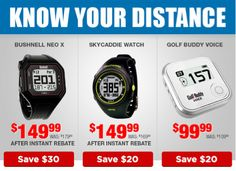 Why guess your distance? Know where you stand with the pin every time with one our ultra accurate Rangefinders. http://www.progolfseattle.com/current-sale