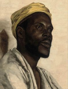 dynamicafrica:   Circle of Edwin Long (British, 1829-1891),Portrait of a Moor. Oil on canvas, 16 x 12 in. (40.7 x 30.5cm.)