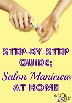 Get a Glam Salon Manicure at Home (PHOTOS) Do your manicures at home — you'll save money AND look amazing. Manicure Colors, Manicure At Home, Manicure And Pedicure, Pedicures, Mani Pedi, Glitter Manicure, Manicure Ideas, Nail Ideas, French Manicure Designs