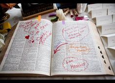 Most creative guest book idea I've seen. Define the couple.