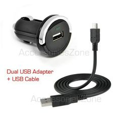 For TomTom XXL 550 TM / XXL 535T / 550 M GPS Vehicle Power Car Charger Adapter + USB Data Charging Cable by Ibp. $5.99