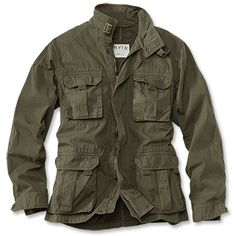 Shop Orvis today for stylish and rugged jackets for men. Find the perfect jacket, from Orvis' Heritage Field Coat to other classic and enduring styles. Military Field Jacket, Military Style Jackets, Casual Jackets For Men, M65 Jacket, Combat Jacket, Safari Jacket, Look Man, Revival Clothing, Tactical Clothing