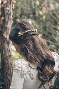 shooting d'inspiration coiffure pour la mariée