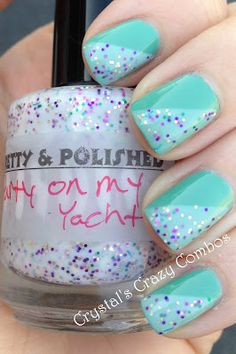 Orly Ancient Jade with Pretty & Polished Party on my Yacht