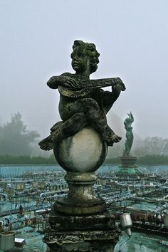 Remains of a fountain in the abandoned Nara Dreamland, Japan.