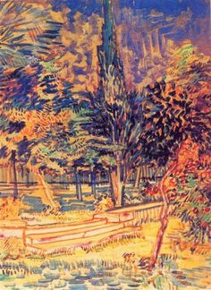 Stone Steps In The Garden Of The Asylum 1889 Vincent van Gogh