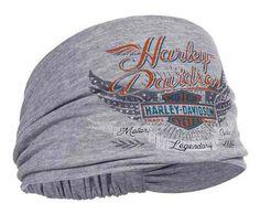 9331d80c32d Harley-Davidson® Women s Studded Winged Bar   Shield Headband Scrunchie  HE17354
