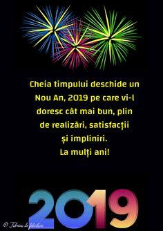 Felicitari de anul nou 2019 - La mulți ani! Happy New Year 2019, Happy B Day, An Nou Fericit, Happy Birthday, Motto, Roxy, Celebrities, Winter, Christmas