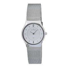 Skagen Women's O233SSSC Quartz Silver Dial Stainless Steel Watch Skagen. $55.98. Durable mineral crystal protects watch from scratches,. Quartz movement. Case diameter: 28mm. Casual watch. Water-resistant to 30 M (99 feet)