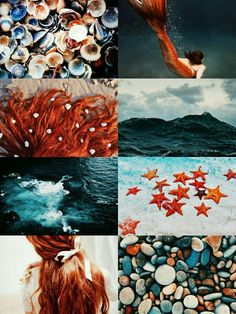 Today let's do these rust & teal shades (together or separately) - with a bit of a mermaid / ocean theme too x Disney Aesthetic, Princess Aesthetic, Aesthetic Themes, Aesthetic Collage, Aesthetic Pictures, Mermaid Lagoon, Mermaid Art, Mermaid Ring, Ocean Girl