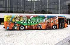 Sudbury Transit at Tom Davies Square (Greater Sudbury, Ontario)