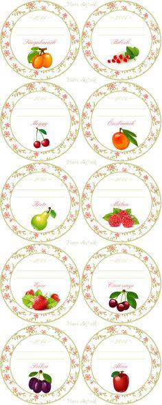 Hurrá alkotunk! Jam Jar Labels, Canning Jar Labels, Jam Label, Hobbies For Men, Hobbies And Interests, Etiquette Vintage, Homemade Stickers, Art And Hobby, Cross Stitch Kitchen
