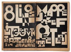 Raw, blocky cut-up.the black on kraft coloured paper lends an authentic feel. Type Design, Book Design, Design Art, Typography Layout, Lettering, Funky Fonts, Alphabet City, Modern Graphic Design, Graphic Art