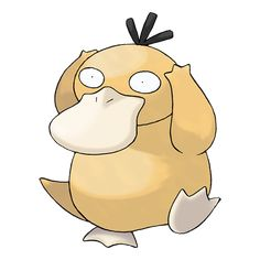 Psyduck - 054 - It is constantly wracked by a headache. When the headache turns intense, it begins using mysterious powers. It has mystical powers but doesn't recall that it has used them. That is why it always looks puzzled.  @PokeMasters