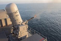 Aircraft carrier USS Harry S. Truman (CVN 75) conducts a live-fire exercise with the close-in weapons system.