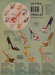 Vintage Fredericks of Hollywood catalog - 'Ultra HIGH Heels!