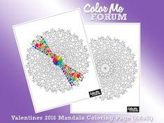 $0.99c Valentines 2016 Mandala Coloring Page - Coloring Pages - Color Me Forum